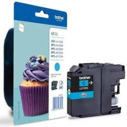 Brother LC123C Ink Cartridge, Cyan