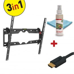 "Barkan 3 in 1 Combo: Flat /Curved TV Wall Mount + Screen Cleaner + HDMI Cable CM310+ Wall Mount, Tilt, 29-65 "", Maximum weight ("