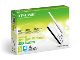 TP-LINK USB 2.0 Adapter TL-WN722N 2.4GHz, 802.11n, 150 Mbps, 1xDetachable antenna 4dBi